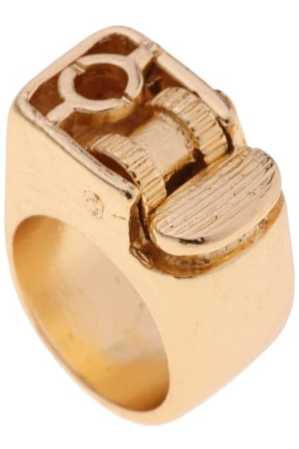 Lighter Shaped Gold Ring