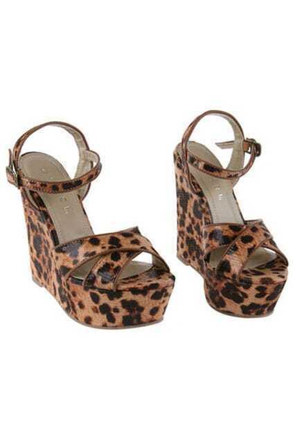 Platform Brown Leopard Sandal