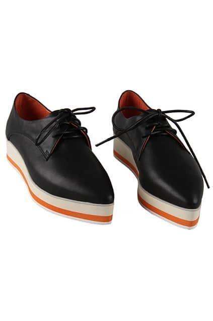 Lace Up Black Platform Shoes