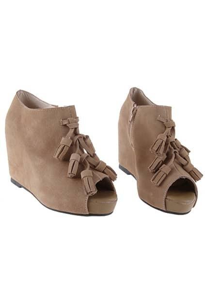 Tassel Apricot Platform Shoes