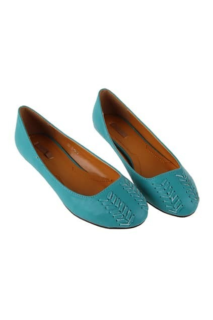 Knit Green Flat Shoes