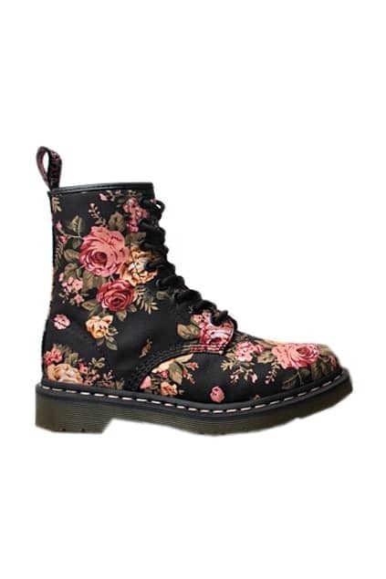 Floral Print Black Dr.Martens Boots