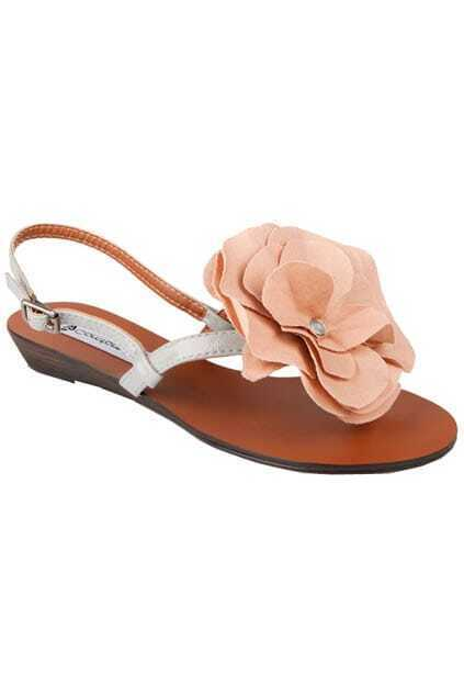 Nude Flower Tribal Sandals
