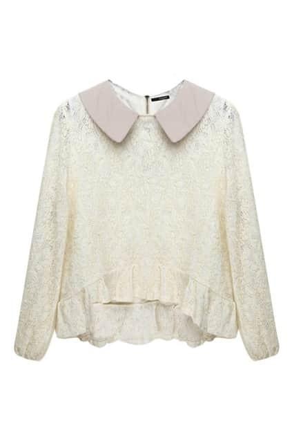 Lapel Neck Light Pink Shirt