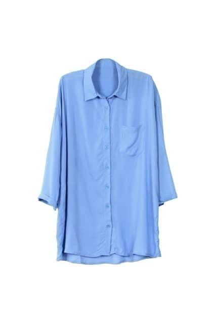 Boyfriend Style Blue Shirt
