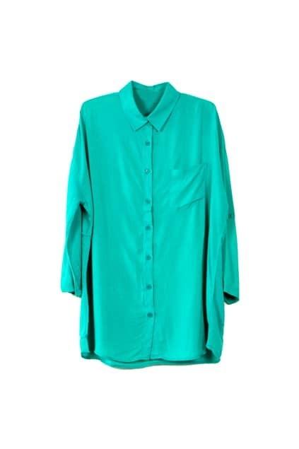 Boyfriend Style Green Shirt