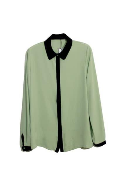 All-match Retro Green Shirt