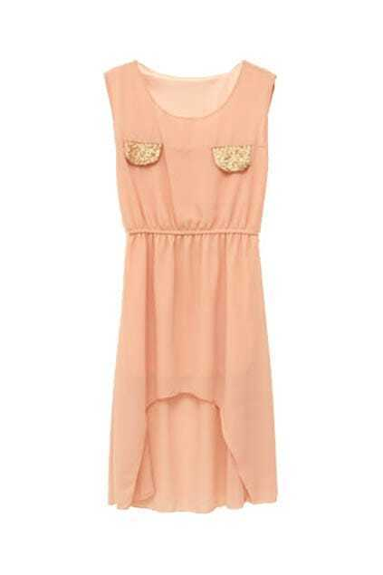 Anomalous Lower Hem Pink Dress