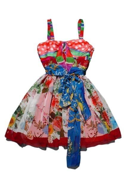 Floral Print Bandeau Strap Dress