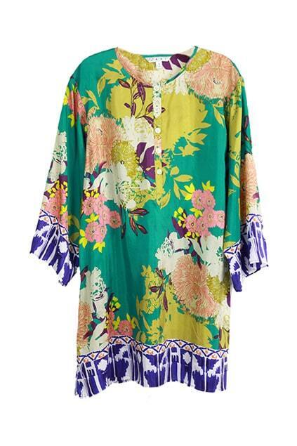 Floral Pure Silk Shift Dress