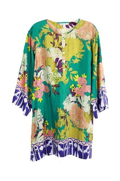 Floral Pure Silk Shift Dress