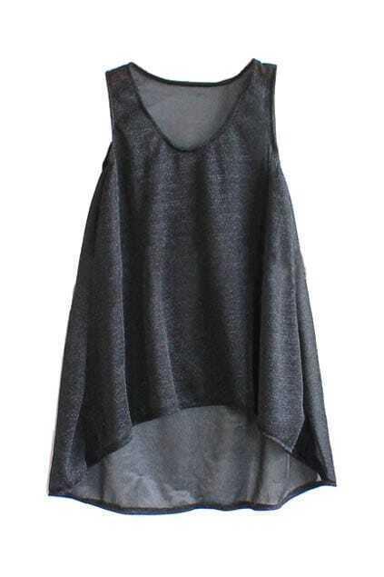 Swallow Tail Oversized Black Dress