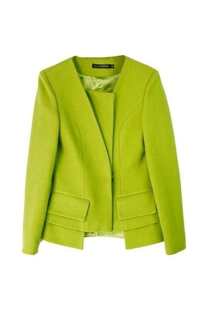 Special Design Green Coat