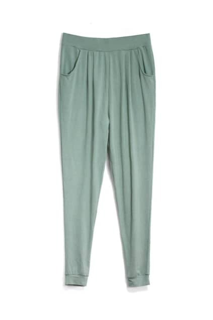 Loose Army Green Harem Pants
