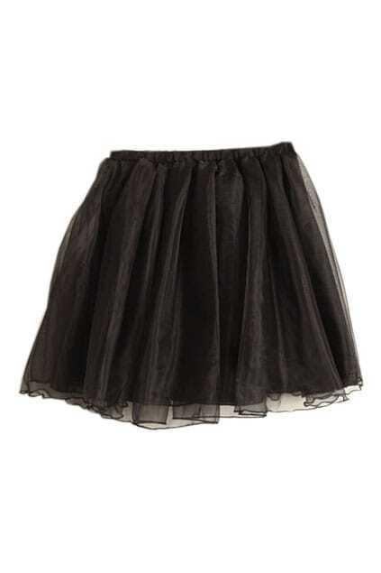 Pompom Style Black Skirt