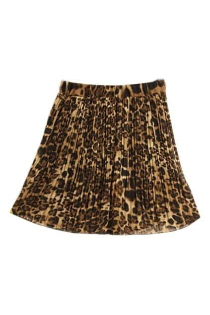 Leopard Print Short Length Skirt