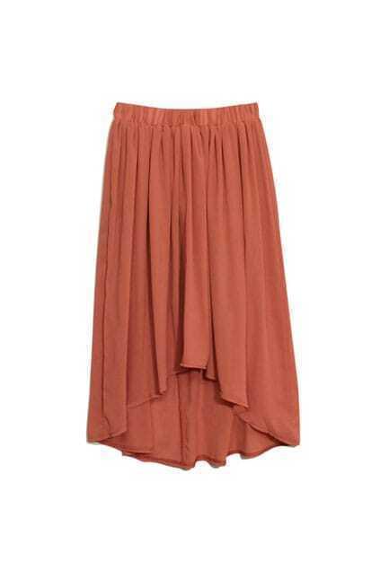 Anomalous Brownish-red Skirt