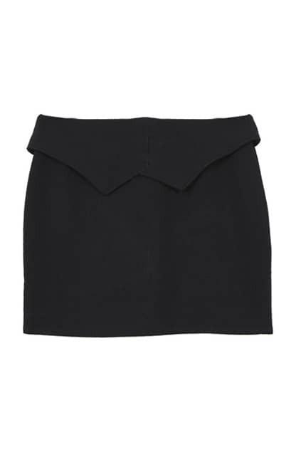 Feminine Black Bodycon Skirt