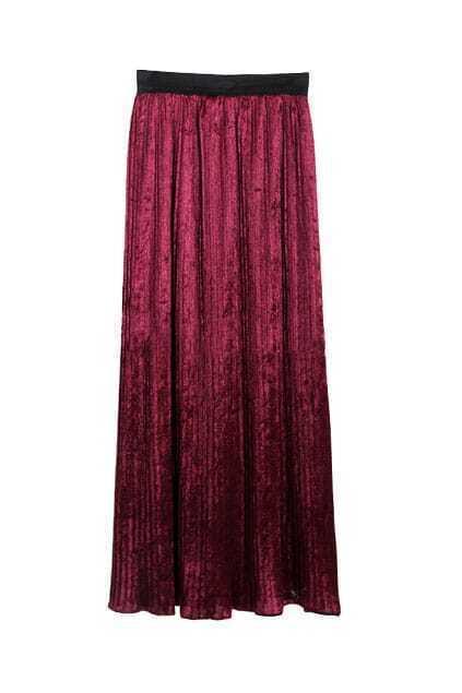 Longline Bouffancy Wine-red Skirt