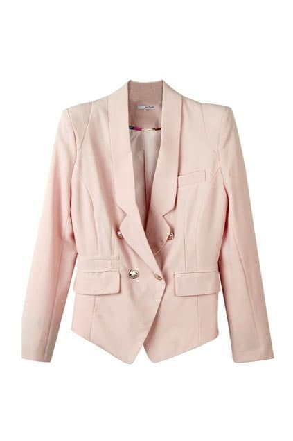 Slim Light Pink Blazer