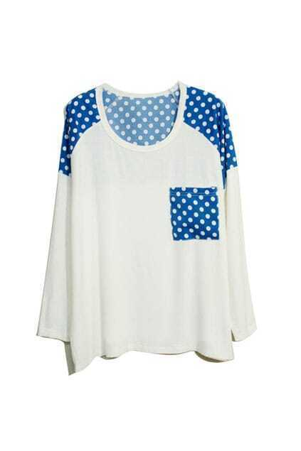 Dots Detailing White T-shirt
