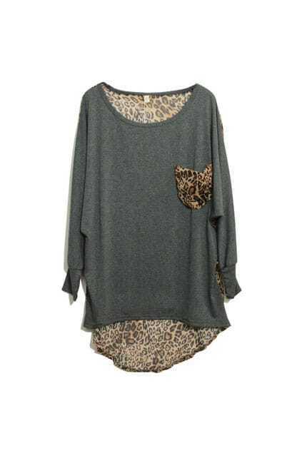 Retro Leopard Grey T-shirt