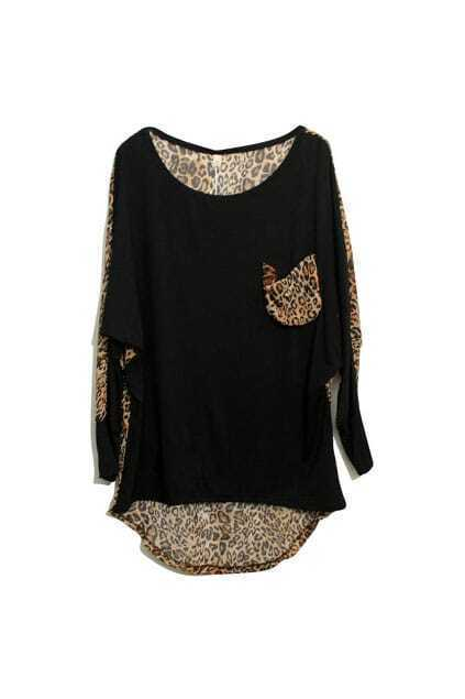 Retro Leopard Black T-shirt
