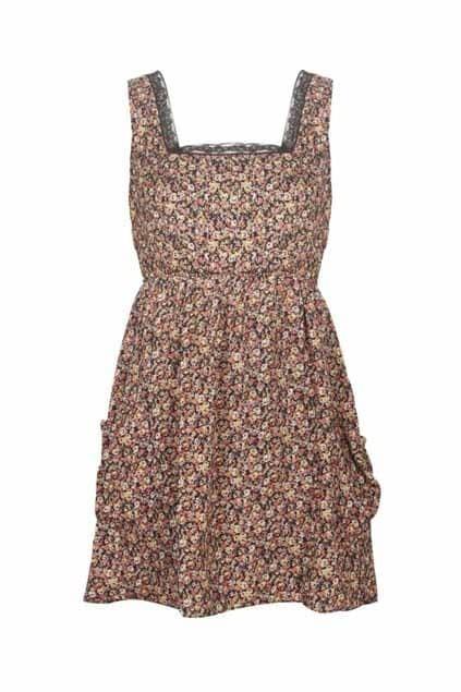 Floral Print Controlled Waist Dress