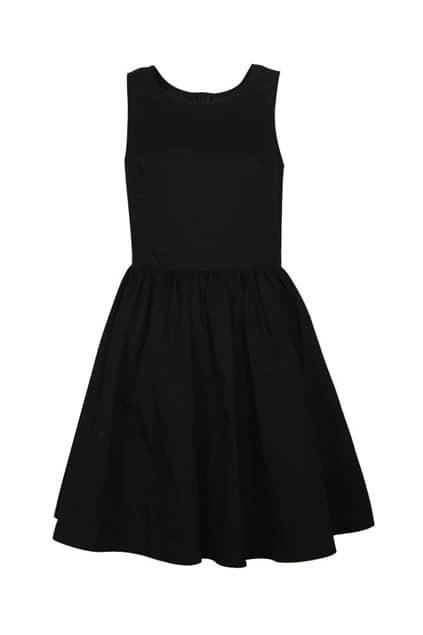 Classic Styel Pompon Lower Black Dress