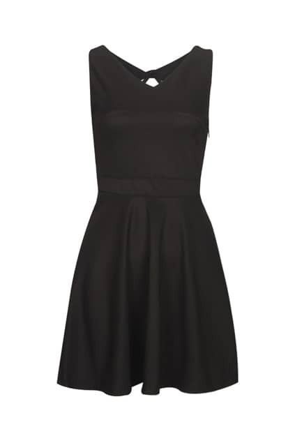 Blackless Drooping Style Black Dress