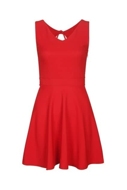 Blackless Drooping Style Red Dress