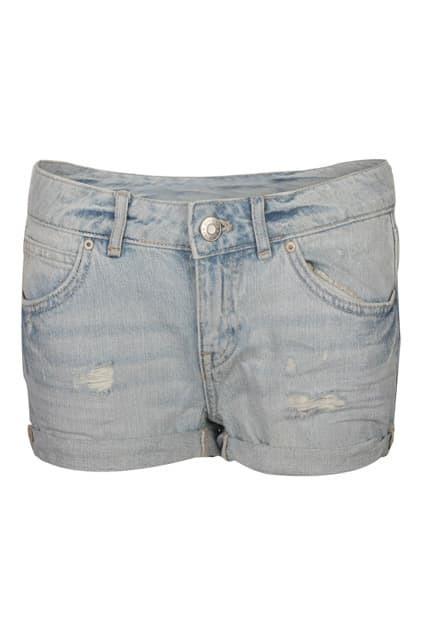Low Waist Light Blue Shorts