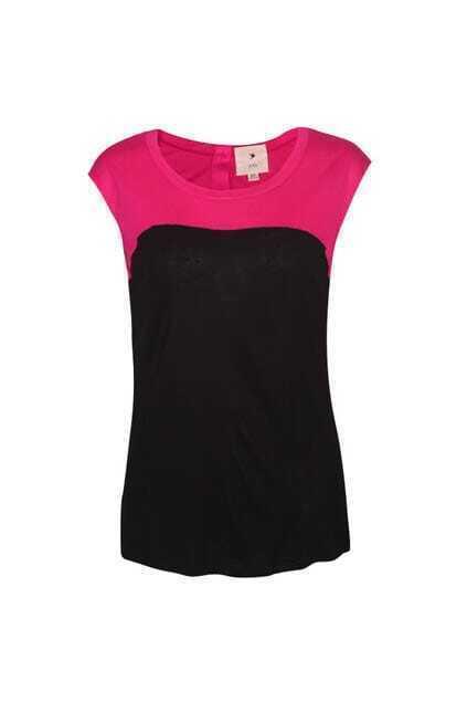 Rose Montage Black T-shirt