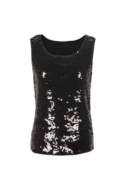 Patllette Chic Style Black Vest
