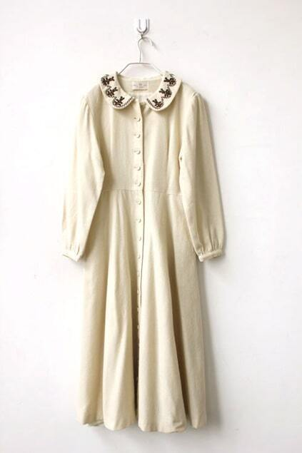 Peter Pan Collar Woolen Dress