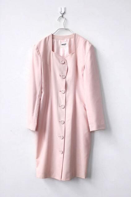 Tulip Style Pink Woolen Dress