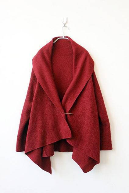 Cape Style Red Outerwear