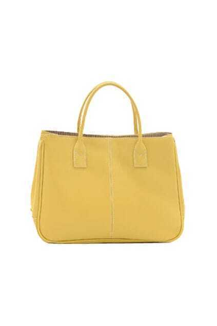 Candy Yellow Holdall Bag