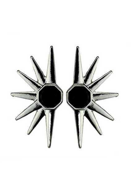 Spike Silver Earrings