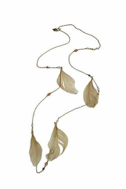 Golden Chain Feather Necklace