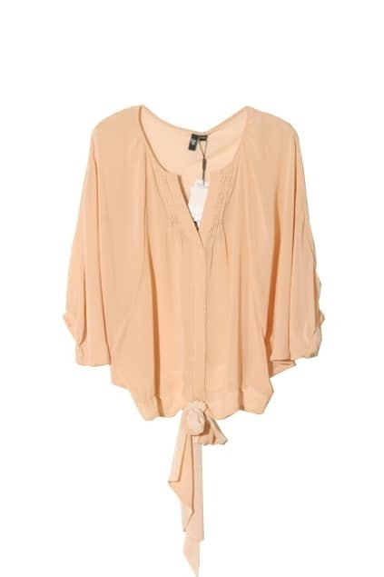 Tube Inside Loose Style Nude Blouse