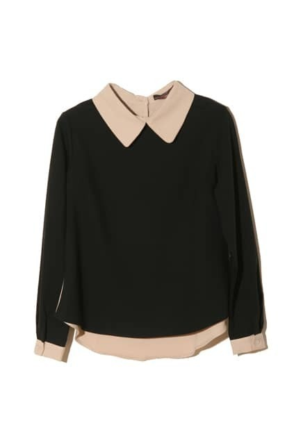 Peter Pan Collar Chiffon Top