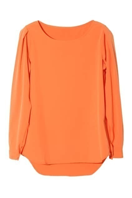 Chic Style Orange Blouse