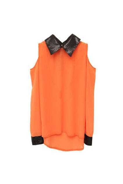 Off Shoulder Orange Shirt