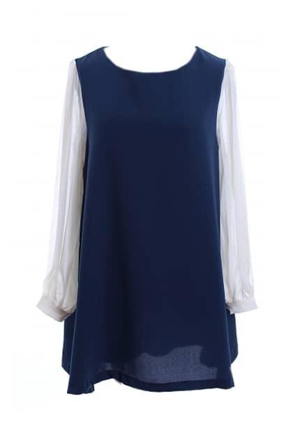 Bouffancy Oversized Navy-blue Dress