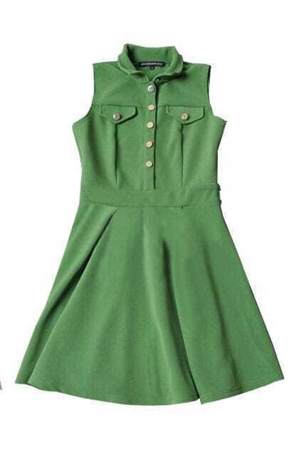 Elegant Look Green Dress