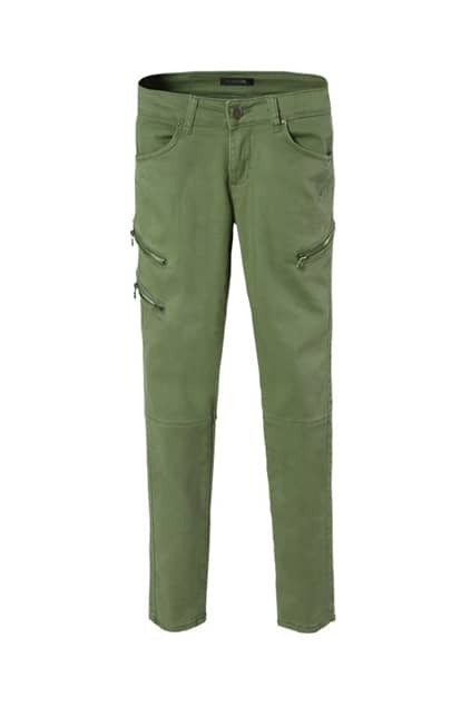 Navy Green Skinny Pants