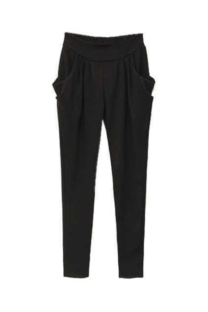 Leisure Black Harem Pants