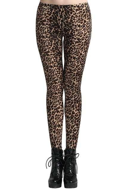 ROMWE Cheetah Print Ankle-length Leggings