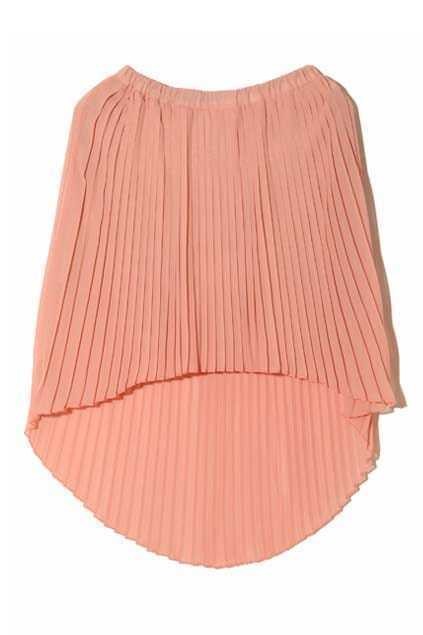 Anomalous Lower Hem Pink Skirt